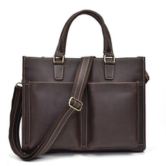 Men Leather Briefcase 14inch Professional Handbag Laptop Bag For Men