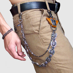 Metal Cool Wallet Chain Crown Biker Trucker Wallet Chain Trucker Wallet Chain for Men