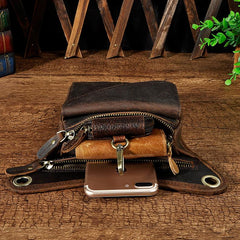 Leather Mens Small Belt Pouch Waist Bags BELT BAG Small Side Bag For Men