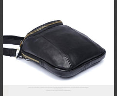 Handmade Leather Mens Waist Bag Hip Pack Belt Bag Fanny Pack Bumbag for Men