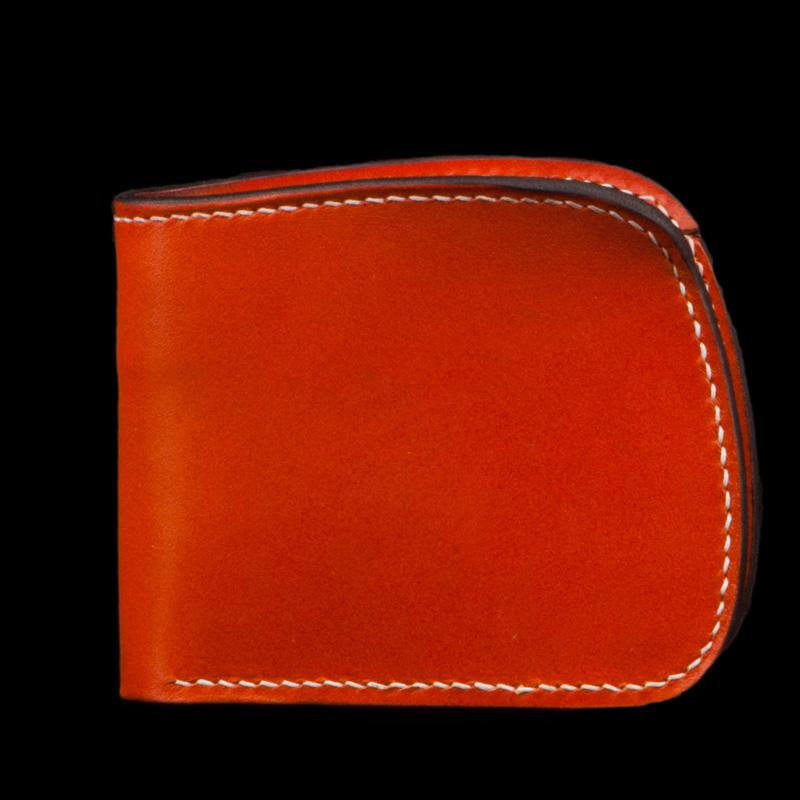 Handmade Leather Bifold Mens billfold Wallet Cool Small Wallet Biker Wallet for Men
