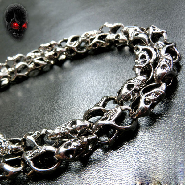 Metal Cool 18'' Skull Wallet Chain Biker Trucker Wallet Chain Trucker Wallet Chain for Men