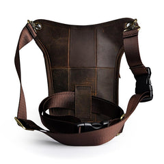Cool Mens Leather Belt Pouch Small Shoulder Bag Waist Bag BELT BAG For Men