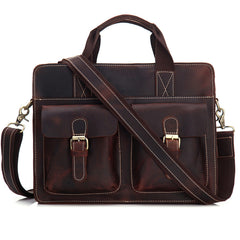 Cool Leather Briefcase Laptop Briefcase Work Handbag Business Handbag For Men