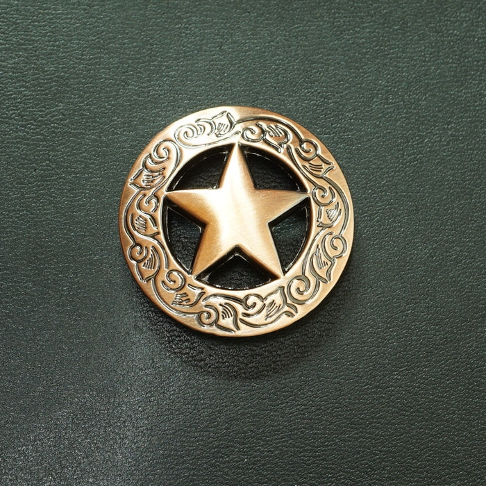 Texas Star Bronze Wallet Concho Texas Star Conchos Button Conchos Bronze Screw Back Decorate Concho Texas Star Bronze Biker Wallet Concho Wallet Conchos