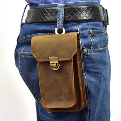 MEN LEATHER Belt Pouch WAIST BAG Cell Phone Holsters BELT BAG for Men