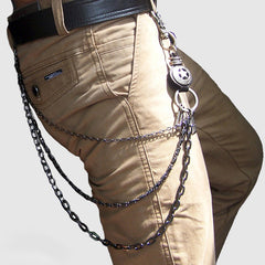 Metal Cool Wallet Chain OX Horn Biker Trucker Wallet Chain Trucker Wallet Chain for Men