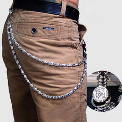 Metal Cool Wallet Punk Rock Chain Biker Trucker Wallet Chain Trucker Wallet Chain for Men