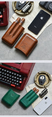 Cool Beige Leather Mens 3pcs Cigar Case Cool Custom Leather Cigar Case for Men