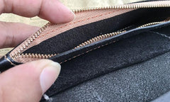 Cool Leather Mens Biker Chain Wallet Cool Handmade Long Biker Wallet with Chain