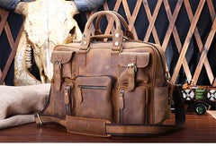 Genuine Leather Mens Cool Messenger Bag Work Bag Satchel Bag Briefcase Bag for men