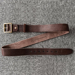 Handmade Genuine Custom Leather Mens Leather Men Coffee Belt for Men