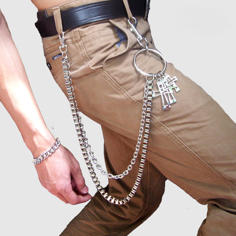 Metal Cool Wallet Chain Cross Biker Trucker Wallet Chain Trucker Wallet Chain for Men
