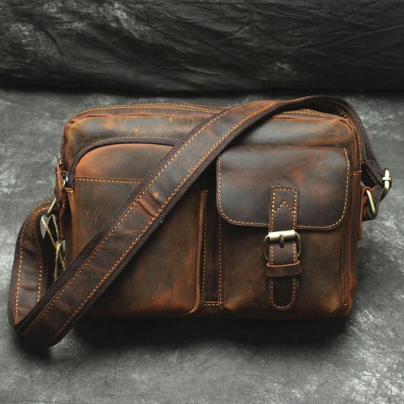 bc5f0c9fdafe Next.  89.00 89.00. No reviews. Overview  Design  Handmade Leather Mens Cool  Small Messenger Bag iPad ...