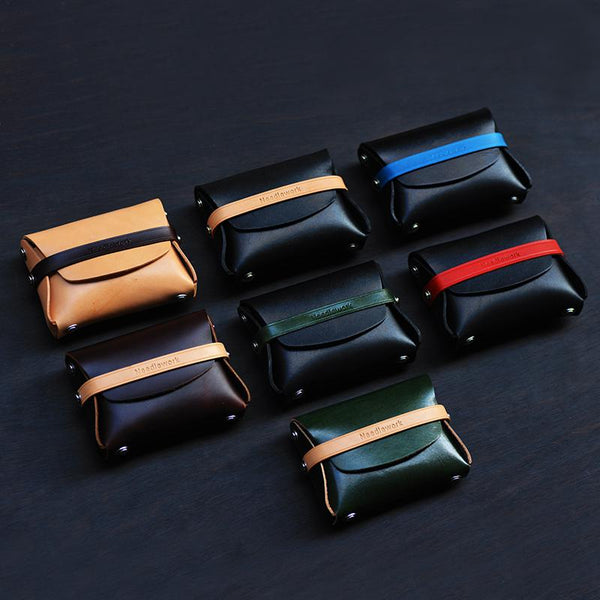 Cool Stylish Leather Mens Wallet Small Coin Wallet Card Holder Long Wallet for Men