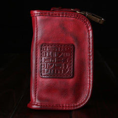 Genuine Leather Mens Cool Key Wallet Car Key Holder Car Key Case for Camel Men