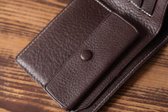 Handmade Leather Mens Cool Wallet Men Slim Wallets Front Pocket Wallet for Men