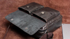 Handmade Leather Mens Cool Messenger Bag Chest Bag Bike Bag Cycling Bag for men
