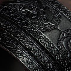 Handmade Genuine Leather Mens Belt Black Cool Leather Men Black Belt for Men