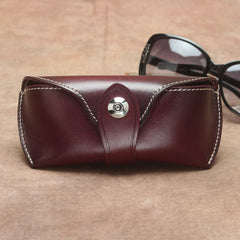 Handmade Genuine Leather Glasses Case Box Wallet Bag For Mens