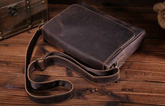 Cool Leather Mens Messenger Bag Vintage Shoulder Bags For Men