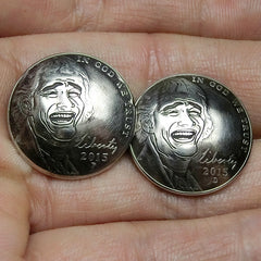 YaoMing Wallet Conchos Coin YaoMing Conchos Button Conchos Screw Back Decorate Concho YaoMing Biker Wallet Concho Wallet Conchos