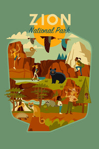 Geometric design of all aspects of Zion National Park, Utah