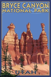 Poster of Bryce Canyon's famous Hoodoos in Bryce Canyon National Park, Utah