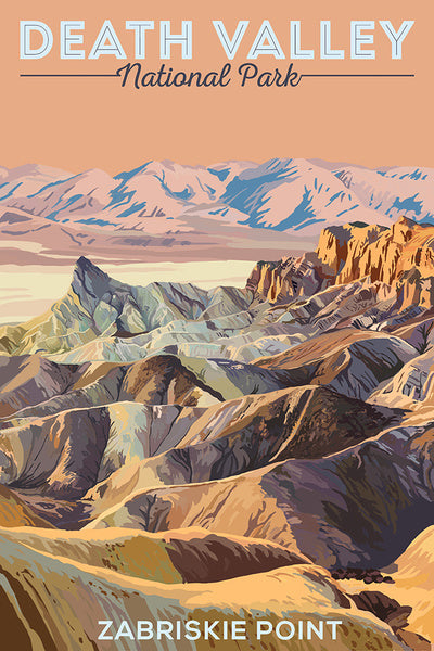 Zabriskie Point is a part of the Amargosa Range located east of Death Valley in Death Valley National Park in California, United States, noted for its erosional landscape.