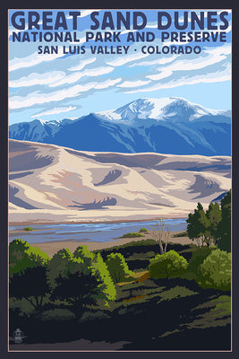 Great Sand Dunes National Park and Preserve postcard, San Luis Valley, Colorado