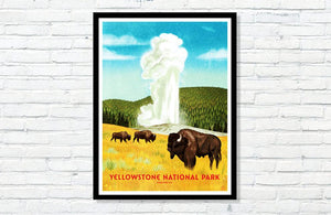 "Yellowstone National Park Poster - 18"" x 24"""