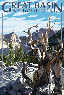 Great Basin National Park postcard, Nevada with Bristlecone pine