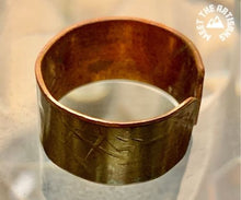 Load image into Gallery viewer, Patina Copper Cuff Bracelet