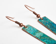Load image into Gallery viewer, Patina Copper Earrings