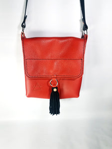 Pebbled Electric Red Crossbody