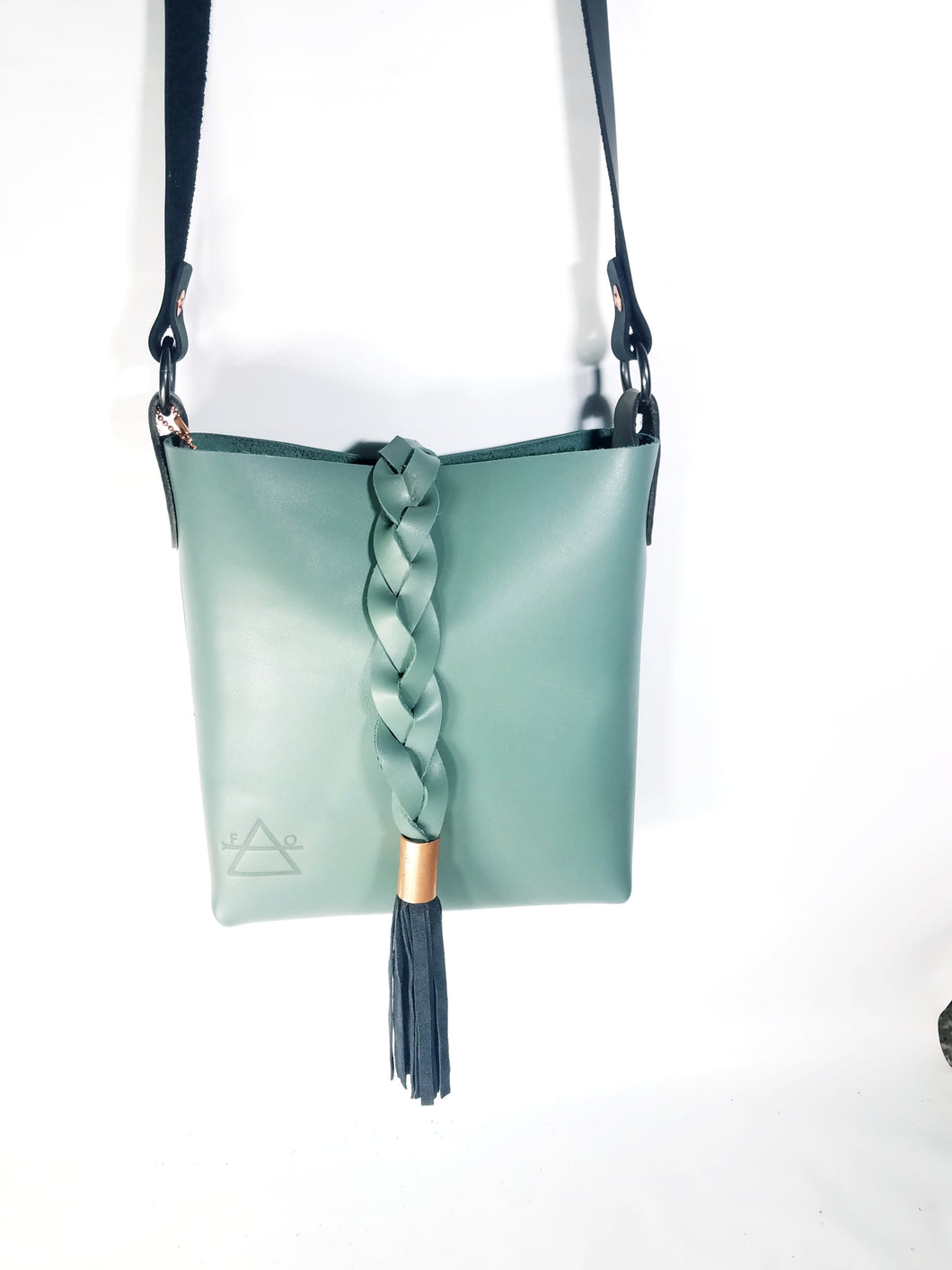 Teal Crossbody with Braid