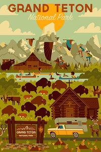Geometric design of all aspects of Grand Teton National Park, Wyoming