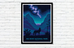 "Big Bend National Park Poster - 18"" x 24"""