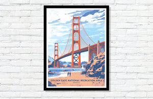 "Golden Gate National Recreation Area Poster - 18"" x 24"""