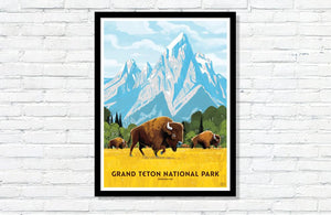 "Grand Teton National Park Poster - 18"" x 24"""