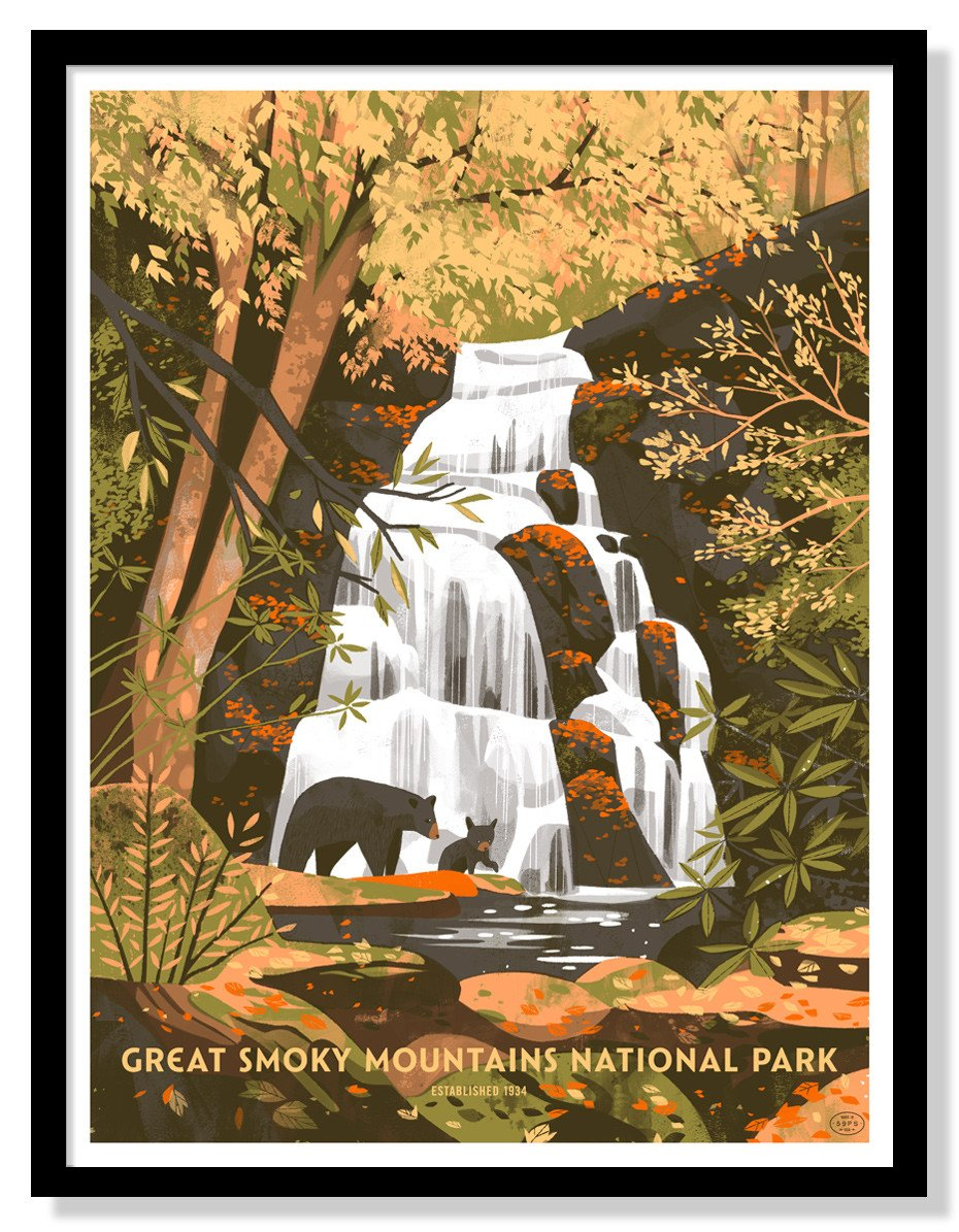 "Great Smoky Mountains National Park Poster - 18"" x 24"" – US Park Pass"