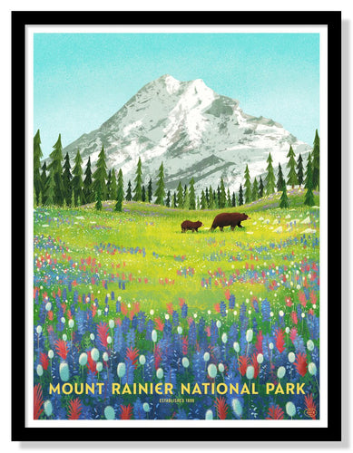 Mount Rainier National Park Poster - 18