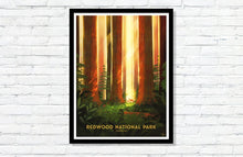 "Load image into Gallery viewer, Redwood National Park Poster - 18"" x 24"""