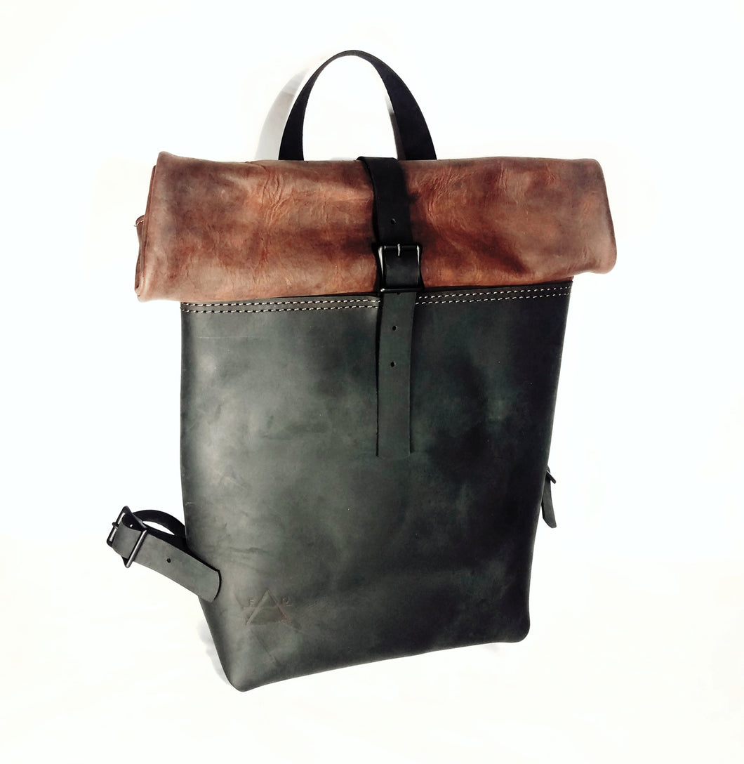 Elk and Cow Hide Rucksack