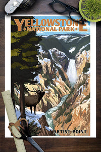 Yellowstone National Park Poster - Artist Point