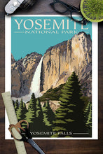 Load image into Gallery viewer, Yosemite National Park Poster - Yosemite Falls