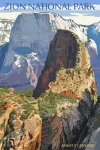 Load image into Gallery viewer, Zion National Park Poster - Angel's Landing