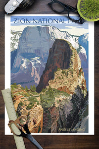 Zion National Park Poster - Angel's Landing