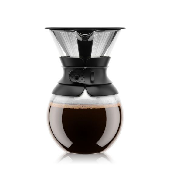 POUR OVER coffee maker with permanent filter