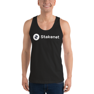 Classic Tank Top with Big White Stakenet Logo